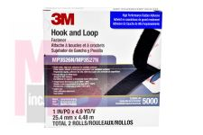 3M Fastener Hook and Loop MP3526N/MP3527N S030 Black, 1 in x 5 yd, 0.15 in engaged thickness, 1 per inner 5 per case