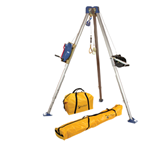 FallTech Confined Space Kits 7504 Tripod Kit with 7275 Tripod 7285 3-Way SRL 7290 Winch 7421 Pulley 8450 Carabiner NL7280 and NL7282 Storage Bags - Micro Parts & Supplies, Inc.