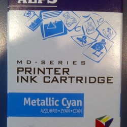 Alps 106040-00 MD (MicroDry) Metallic Cyan Printer Ink Cartridge  - Micro Parts & Supplies, Inc.