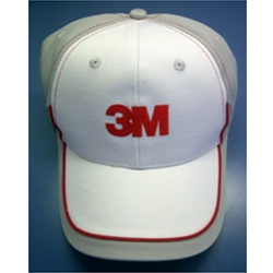 3M Logo Cap - White on Gray