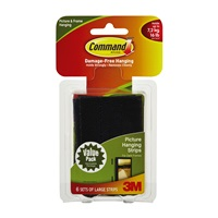 3M 17204BLK-ALT Command Black Picture Hanging Strips Value Pack - Micro Parts & Supplies, Inc.