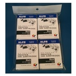 Alps MDC-FLK4 106057-00 MD (MicroDry) Black Cartridge 4-Pack  - Micro Parts & Supplies, Inc.