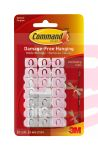 3M Command Decorating Clips with Water-Resistant Strips 17026H