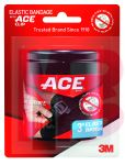 3M ACE Brand Black Elastic Bandage with ACE Brand Clip 207467  3 Inch