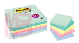3M Post-it 654-24APVAD 3 in x 3 in (76 mm x 76 mm) Marseille Colors 8 per case