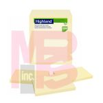 3M Highland Notes 6559RP  3 in x 5 in (76 mm x 127 mm) 30% recycled paper