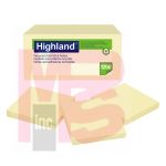 3M Highland Notes 6549RP  3 in x 3 in (76 mm x 76 mm) 30% recycled paper