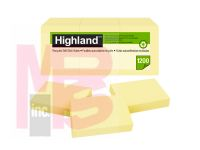 3M Highland Notes 6539RP  1 3/8 in x 1 7/8 (34 mm x 47mm) 30% recycled paper