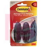 3M 17081BLK-ES Command Black Medium Designer Hook - Micro Parts & Supplies, Inc.