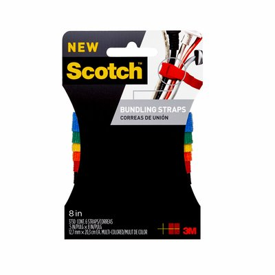 3M RF3730 Scotch Bundling Strap .5 in x 8 in (12.7 mm x 20.3 cm) Multi-Color - Micro Parts & Supplies, Inc.