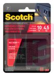 3M Scotch Extreme Fasteners RFD7021  1 in x 1 in (25.4 mm x 25.4 mm) Black 12 Squares (6sets).