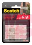 3M Scotch Extreme Fasteners RFD7090  1 in x 3 in (25.4 mm x 76.2 mm) Clear 2 Sets of Strips
