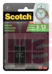 3M Scotch Indoor Fasteners  RF4721 7/8 in x 7/8 in (2.22 cm x 2.22 cm) Black 12 Sets of Squares