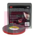 3M 6382 Automotive Acrylic Plus Attachment Tape Black 1/2 in x 20 yd 45 mil - Micro Parts & Supplies, Inc.