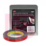 3M 6384 Automotive Acrylic Plus Attachment Tape Black 1/2 in x 5 yd 45 mil - Micro Parts & Supplies, Inc.