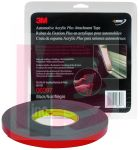 3M Automotive Acrylic Plus Attachment Tape 06397 Black 1/2 In X 10 Yds 60 mil 12 per case