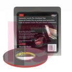 3M Automotive Acrylic Plus Attachment Tape 06386, Black, 1/4 In X 20 Yds, 45 mil, 12 per case
