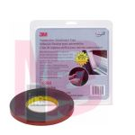 3M Automotive Attachment Tape 06394 Gray 1/2 in x 10 yd 90 mil 12 per case
