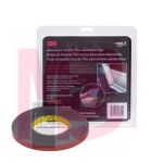 3M Automotive Acrylic Plus Attachment Tape, 06395, Black, 7/8 in x 10 yd, 60 mil, 12 per case
