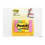 3M 670-5AF Post-it 1/2 in x 1.75 in (12.7 mm x 44.4 mm) Assorted Fluorescent - Micro Parts & Supplies, Inc.