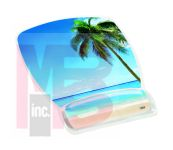 3M MW308BH Gel Mousepad Wristrest Compact Size Clear Gel Beach Design 6.8 in x 8.6 in x 0.75 in - Micro Parts & Supplies, Inc.