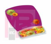 3M MW308DS Gel Mousepad Wristrest Compact Size Clear Gel Daisy Design 6.8 in x 8.6 in x 0.75 in - Micro Parts & Supplies, Inc.