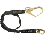 FallTech WrapTech Shock Absorbing Lanyards 82433 6' Single Leg Internal Snap Hook and Rebar Hook Nomex Jacket - Micro Parts & Supplies, Inc.