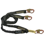 FallTech WrapTech Shock Absorbing Lanyards 8243Y 6' Y-Leg Internal 3 Snap Hooks Nomex Jacket 100% Tie-Off - Micro Parts & Supplies, Inc.