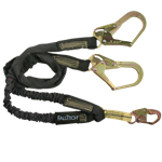 FallTech WrapTech Shock Absorbing Lanyards 8243Y3 6' Y-Leg Internal Snap Hook 2 Rebar Hooks Nomex Jacket 100% Tie-Off - Micro Parts & Supplies, Inc.